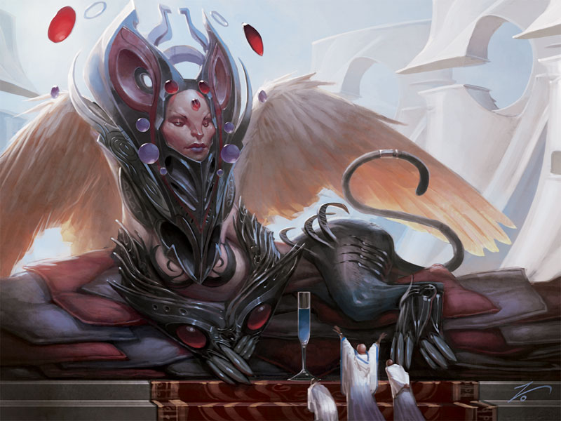 e926 4:3 carpet clothed clothing feathered_wings feathers female glass human izzy magic_the_gathering mammal official_art pillow praying sharuum_the_hegemon sphinx stairs unknown_artist wings wizards_of_the_coast