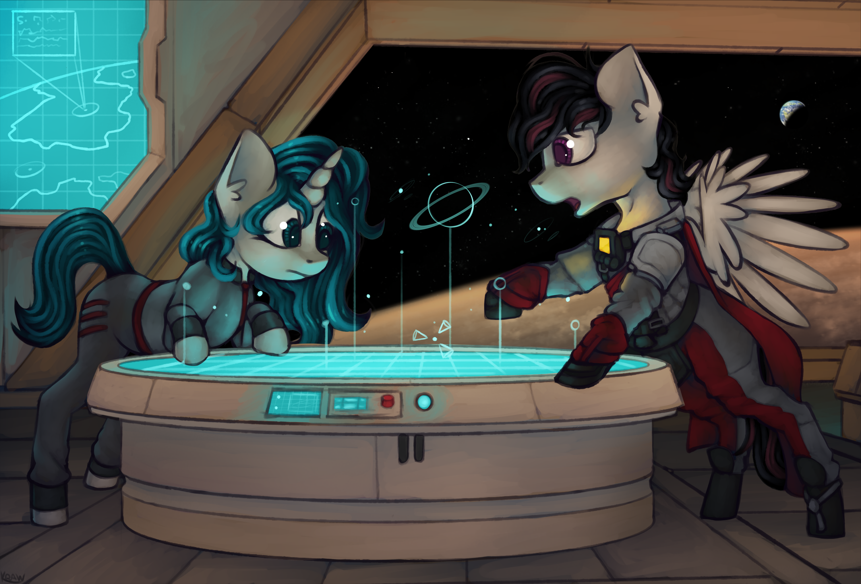 e926 carbon_scratch duo equine fan_character female horse male mammal marsminer my_little_pony pony space