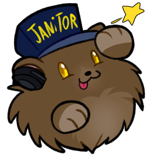 e926 3_fingers :3 alpha_channel bear bearphones blitzdrachin daww english_text fluffy hat headphones low_res mammal paws poof solo star text tongue tongue_out yellow_eyes