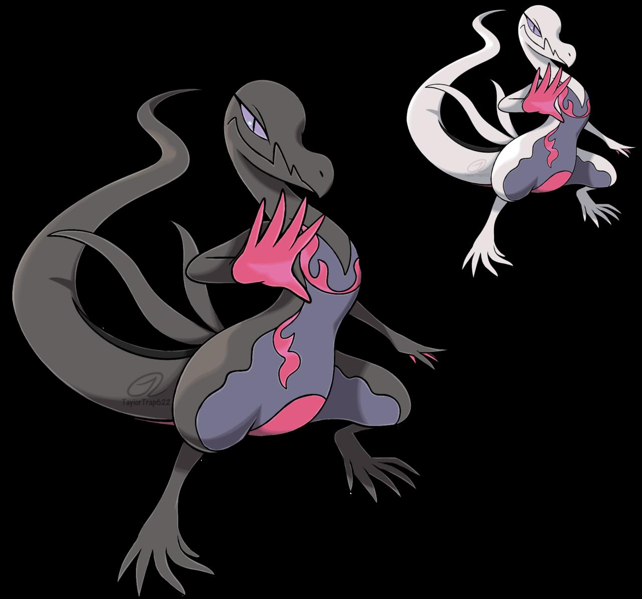 e926 duo female feral lizard nintendo pokémon reptile salazzle scalie shiny_pokémon simple_background taylortrap622 video_games