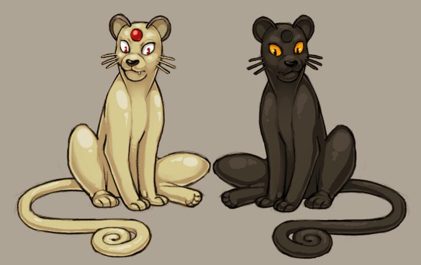 e926 alternate_color cubi duo feline feral mammal melanism nintendo persian pokémon pokémon_(species) rubber video_games