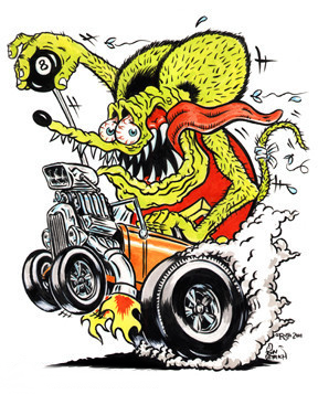 e926 8_ball arthropod billiard_ball bulging_eyes burnout ed_'big_daddy'_roth ed_roth engine fire fly ford ford_motor_company high_speed hotrod insect low_res mammal manual_shifter open_mouth rat rat_fink rodent saliva sharp_teeth supercharger sweat teeth tire_smoke tongue