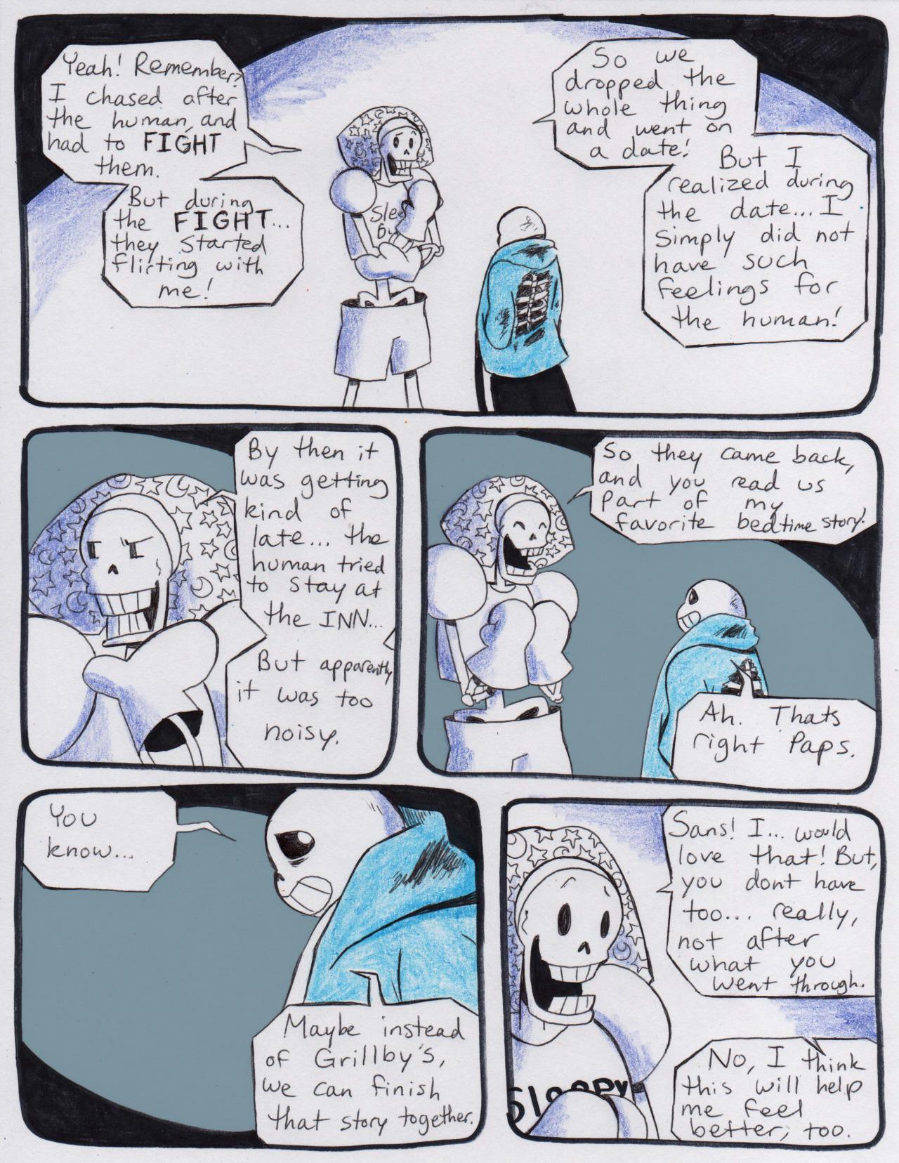e926 aftertale bone clothed clothing comic dialogue english_text gloves hi_res loverofpiggies male not_furry papyrus_(undertale) sans_(undertale) skeleton teeth text undead undertale underwear video_games