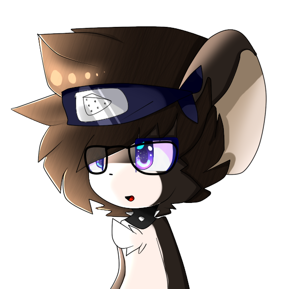 e926 bandanna big_ears black_fur chest_tuft eyewear fluffy fur glasses hair jewelry mammal mouse necklace newgabo open_mouth rat rodent simple_background smile tfm transformice tuft white_background