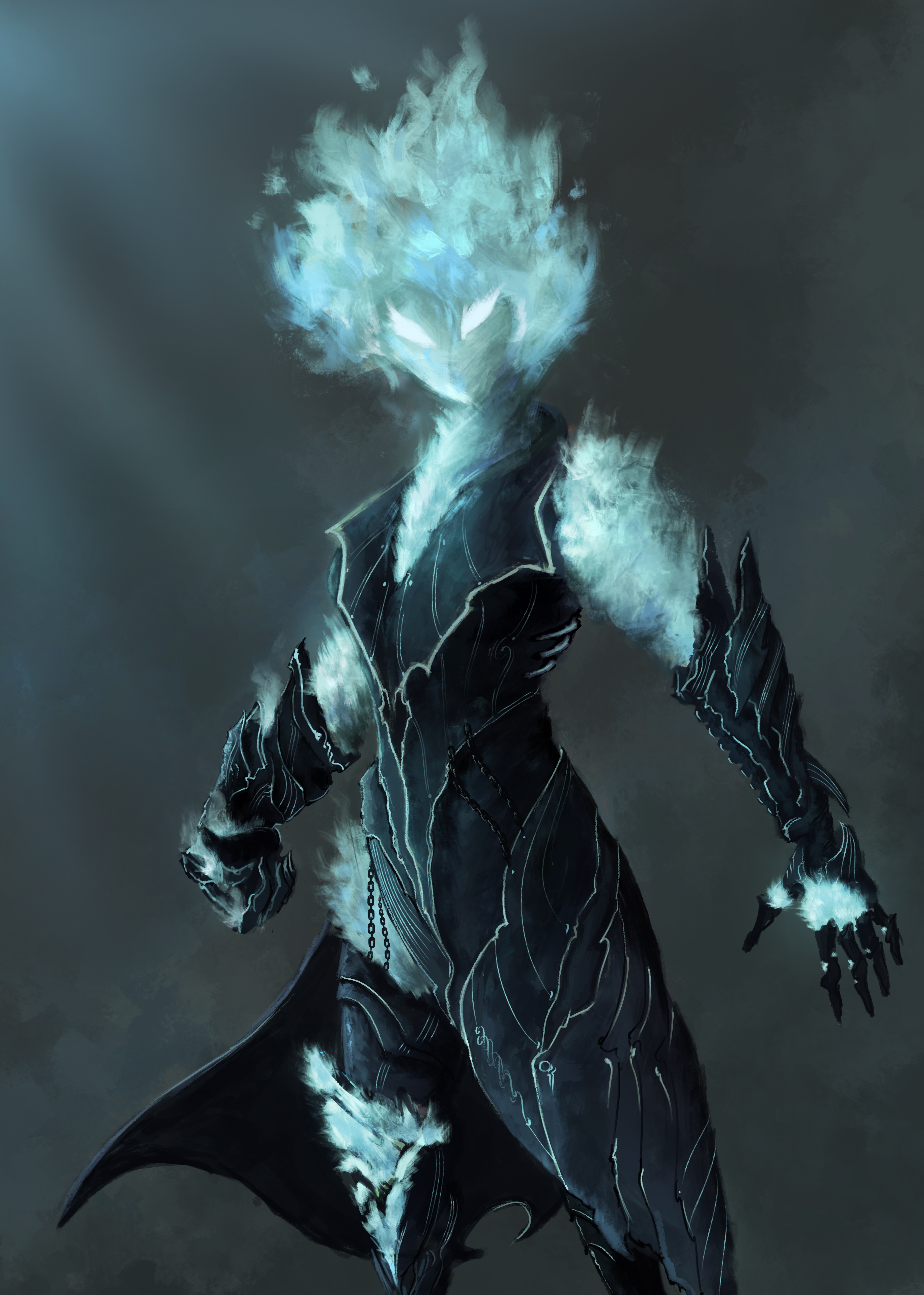 e926 2017 absurd_res armor clothing elemental female fire_elemental gauntlets gloves hi_res humanoid looking_at_viewer not_furry solo sprinkah standing