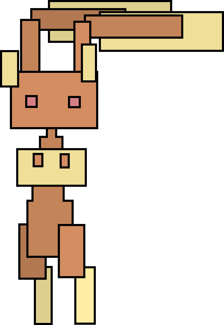 e926 abstract abstract_art alpha_channel ambiguous_gender anthro black_background capt-alex digital_media_(artwork) lagomorph lopunny mammal nintendo pokémon rabbit restricted_palette simple_background solo video_games what