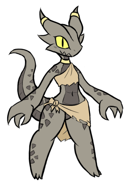 e926 anthro coal_(rakkuguy) female horn kobold rakkuguy scalie short_stack simple_background smile solo white_background yellow_eyes