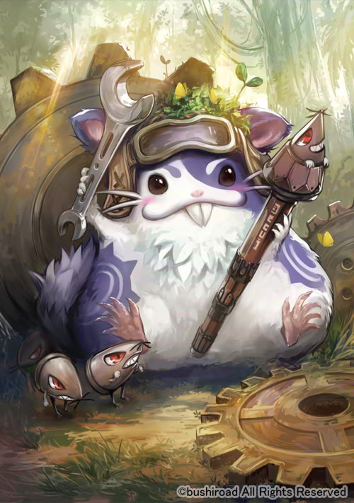 e926 2013 ambiguous_gender anthro black_eyes blush brown_eyes cardfight_vanguard cute detailed_background eyewear feral forest fur gear goggles grass group hammsuke hamster kawasumi looking_at_viewer male mammal mechanic mouse outside paws pencil_squire red_eyes rodent smile tools tree whiskers wrench