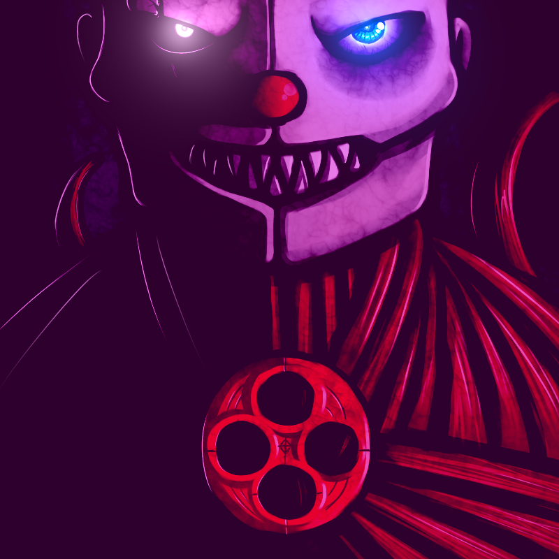 e926 2016 animatronic blue_eyes datfurrydude ennard_(fnafsl) exposed_muscle five_nights_at_freddy's glowing glowing_eyes humanoid machine mask monster red_nose robot scar sharp_teeth sister_location skinless solo teeth video_games white_eyes