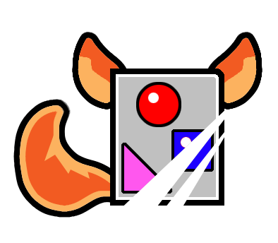 e926 alpha_channel ambiguous_gender animate_inanimate canine circle fox fox_tail foxfourohfour icon lol_comments low_res mammal simple_background solo square transparent_background triangle_(disambiguation)