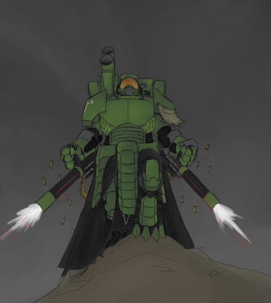 e926 ambiguous_gender anthro armor bullet digital_media_(artwork) gun halo halo_(series) halo_legends laser machine not_furry pav power_armor ranged_weapon simple_background solo spartan standing video_games v² weapon