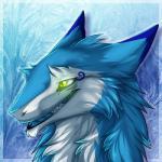 2017 anthro blue_fur blusky darkarlett fur glowing glowing_eyes green_eyes headshot_portrait icon male portrait sergal slit_pupils smile soloRating: SafeScore: 15User: BluskyDate: April 17, 2017