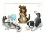2012 ambiguous_gender ball_of_yarn border_collie canine collie cub cute dog feral german_shepherd group husky kacey laser_pointer licking mammal nintendogs playing_with_yarn tongue tongue_out yarn yarn_ball youngRating: SafeScore: 22User: TonyLemurDate: June 01, 2012