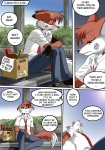 anthro bandage beat_up book box canine chochi comic dialogue english_text engrish fired flashback fox lovely_pets male mammal mike_blade necktie solo text woundedRating: SafeScore: 18User: logitechDate: October 30, 2008