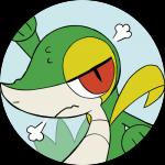 2017 alpha_channel ambiguous_gender blue_background close-up digital_media_(artwork) feral longlevy looking_at_viewer nintendo pokémon pokémon_(species) portrait reptile scalie simple_background snake snivy toony transparent_background video_games