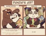bear blush cartoon_network charlie_(wbb) duo english_text grizzly_(wbb) grizzly_bear katidoj lovesick male male/male mammal obese overweight painting pairing panda panda_(wbb) sasquatch text we_bare_bearsRating: SafeScore: 2User: ZestDate: April 22, 2018