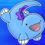 :d ambiguous_gender cute low_res nintendo pokémon quagsire sea solo underwater unknown_artist video_games water