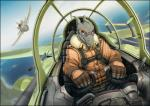 2018 5_fingers airborne aircraft airplane anthro aviator_jacket badge bared_teeth bullet clothed clothing cockpit dogfight dragon eyewear flight_jacket flying gloves goggles grey_scales holding_object horn island jet machine male pants peril pushbutton ranged_weapon scales scalie sea seatbelt solo vader-san warning_sign water weaponRating: SafeScore: 15User: Knotty_CurlsDate: February 23, 2018