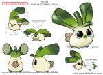 ambiguous_gender black_eyes brown_fur buckteeth cryptid-creations english_text fakémon feral fur humor hybrid lagomorph leaf leek mammal multiple_angles nintendo open_mouth plant pokémon pun simple_background teeth text video_games white_background