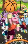 2017 applejack_(mlp) basketball blonde_hair blue_eyes blue_feathers clothed clothing detailed_background earth_pony equine feathered_wings feathers female feral fluttershy_(mlp) freckles friendship_is_magic green_eyes group hair hat hi_res hooves horn horse looking_up mammal multicolored_hair my_little_pony open_mouth outside pegasus pink_hair pinkie_pie_(mlp) pony purple_eyes purple_feathers rainbow_dash_(mlp) rainbow_hair rarity_(mlp) semi-anthro spike_(mlp) sweatband tongue tongue_out tree twilight_sparkle_(mlp) unicorn valcron winged_unicorn wings yellow_feathersRating: SafeScore: 13User: lemongrabDate: July 26, 2017