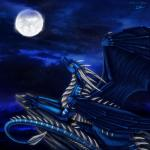 ambiguous_gender claws detailed_background dragon feral firnen_mondschuppe hi_res horn lying membranous_wings moon night nude outside pale_eyes scales selianth sky solo spines star starry_sky wingsRating: SafeScore: 5User: MillcoreDate: March 31, 2017