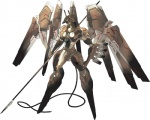 ambiguous_gender anthro anubian_jackal anubis canine deity hi_res jackal konami machine mammal mecha melee_weapon polearm red_eyes robot simple_background solo spear weapon white_background wings yoji_shinkawa zone_of_the_enders