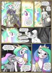 2016 anon bald bare_chest clothed clothing comic cutie_mark dialogue earth_pony english_text equine feathered_wings feathers female feral friendship_is_magic fur glowing green_eyes grey_fur group hair hi_res horn horse human male mammal maud_pie_(mlp) mine monochrome multicolored_hair muscular muscular_male my_little_pony pencils_(artist) pony princess_celestia_(mlp) purple_eyes purple_hair suspended_in_midair text white_feathers white_fur winged_unicorn wings