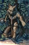 2018 anthro black_nose brown_fur canine day detailed_background fur hibbary male mammal outside solo traditional_media_(artwork) wolfRating: SafeScore: 9User: MillcoreDate: January 19, 2018