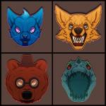 alligator ambiguous_gender angus_(nitw) bared_teeth bea_(nitw) bear black_nose blue_fur blue_nose boo-tay brown_fur canine cat creepy crocodilian eyewear feline fox fur glasses gregg_(nitw) group hat horn mae_(nitw) mammal night_in_the_woods nightmare_fuel open_mouth orange_eyes purple_eyes red_eyes reptile scalie sharp_teeth teeth tongue what_has_nature_done yellow_furRating: SafeScore: 15User: slyroonDate: April 03, 2017