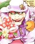 1boshi anthro barazoku blush bouquet bowser claws close-up clothed clothing flora_fauna hat headgear horn japanese_text king koopa looking_at_viewer mario_bros nintendo open_mouth piranha_plant plant proposal red_eyes royalty scalie sharp_claws sharp_teeth shell smile spikes super_mario_odyssey teeth text tongue top_hat translation_request tuxedo video_gamesRating: SafeScore: 0User: ThisIsGospelDate: July 26, 2017