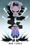 2015 animated_skeleton blue_fire bone clothed clothing english_text gaster_blaster hoodie horn looking_at_viewer male maplespyder not_furry sans_(undertale) sharp_teeth simple_background skeleton skull smile sneakers teeth text undead undertale video_gamesRating: SafeScore: 5User: Pyrocynical_-Fake-Date: April 09, 2016