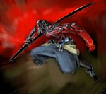 aaron_beck anthro arthropod holding_object holding_weapon insect male melee_weapon nodachi not_furry samurai solo sword weaponRating: SafeScore: 0User: The Dog In Your GuitarDate: March 20, 2007