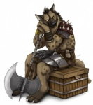 >_> anthro armor axe barbarian blackteagan box convincing_weapon gnoll hyena male mammal melee_weapon runed_weapon simple_background solo unconvincing_armor warrior weapon white_backgroundRating: SafeScore: 56User: BaskeDate: July 27, 2011