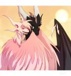 digital_media_(artwork) dragon duo eyes_closed feathered_dragon feathered_wings feathers feral hair heterochromia membranous_wings pink_feathers pink_hair scalie smile spines western_dragon wings wrappedviRating: SafeScore: 6User: MillcoreDate: January 21, 2018