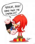 anthro big_eyes big_head clothing echidna english_text gloves knuckles_the_echidna male mammal monotreme simple_background solo sonic_(series) text toony tyson_hesse white_backgroundRating: SafeScore: 11User: NujiDate: May 12, 2017