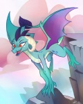 2017 dinkelion dragon female feral friendship_is_magic horn membranous_wings my_little_pony outside princess_ember_(mlp) red_eyes rock scalie solo spade_tail wingsRating: SafeScore: 75User: ConsciousDonkeyDate: May 09, 2017