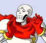 5_fingers animated_skeleton bone clothing eyes_closed gloves grey_background humor just_right low_res male meme not_furry ok_sign pacha_(the_emperor's_new_groove) papyrus_(undertale) reaction_image scarf simple_background skeleton solo teeth undead undertale unknown_artist video_games