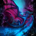 ambiguous_gender blue_scales claws detailed_background dragon feral hi_res horn membranous_wings open_mouth purple_eyes scales selianth selianth_(character) solo spines teeth wingsRating: SafeScore: 4User: MillcoreDate: March 31, 2017