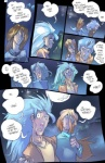 comic dialogue digital_media_(artwork) duo english_text hair hair_over_eye hi_res human legend_of_the_werehorse male mamabliss mammal moon oblivious text werehorse