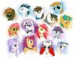 apple_bloom_(mlp) babs_seed_(mlp) button_mash_(mlp) collar cutie_mark_crusaders_(mlp) diamond_tiara_(mlp) dinky_hooves_(mlp) ear_piercing earth_pony equine eyewear feathered_wings feathers featherweight_(mlp) female friendship_is_magic glasses group hat headphones horn horse jewelry kejik male mammal my_little_pony necklace necktie orange_feathers pegasus piercing pipsqueak_(mlp) pony rumble_(mlp) scootaloo_(mlp) silver_spoon_(mlp) smile snails_(mlp) snips_(mlp) spiked_collar spikes sunglasses sweetie_belle_(mlp) tattoo tongue tongue_piercing twist_(mlp) unicorn wings young