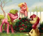 2015 absurd_res blonde_hair cloud cute cutie_mark daisy_(mlp) earth_pony equine eyebrows eyelashes eyes_closed female fence feral flower flower_in_hair friendship_is_magic grass green_eyes green_hair grin group hair happy hi_res holivi hooves horse leaning leaning_forward lily_(mlp) mammal my_little_pony nude orange_eyes outside plant pony red_hair rose rose_(mlp) shadow shrub signature sitting sky smile standing teeth treeRating: SafeScore: 6User: GlimGlamDate: June 17, 2018