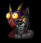 anthro black_background headshot host hybrid majora majora's_mask male mask nintendo possession simple_background tentacles the_legend_of_zelda video_games wolfger wolfgerlion64Rating: SafeScore: 1User: WolfgerlionDate: March 25, 2015