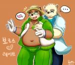 2017 <3 anthro bear belly blush brown_fur clothed clothing duo eyewear fur glasses gloves grope hopps_(artist) hug hugging_from_behind male mammal overweight overweight_male rave_(housamo) smoking tokyo_afterschool_summoners volosRating: SafeScore: 1User: mapachitoDate: December 12, 2017