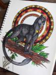 2015 4_toes ambiguous_gender black_fur black_nose casynuf claws feline feral full-length_portrait fur grey_fur grey_tail hi_res leaf long_tail looking_at_viewer mammal mandala multicolored_fur orange_eyes panther photo portrait simple_background solo spots spotted_fur standing tail_tuft toes tuft two_tone_fur whiskers white_backgroundRating: SafeScore: 2User: Nicklo6649Date: April 19, 2018