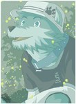 :v aliasing anthro bo-gilliam border canine clothed clothing collar cute fur green_fur hat male mammal night open_mouth outside pawprint shirt sky solo source_request star starry_sky wolfRating: SafeScore: 7User: mscDate: April 29, 2007