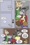 anthro beaver brown_fur clothed clothing comic cub dialogue donkey english_text equine female fur hi_res horse jennifer_(study_partners) lisa_(study_partners) male mammal mustelid otter rodent sarah_(study_partners) study_partners text thunderouserections woody_(study_partners) young