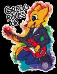2017 anthro canine clothed clothing fox fur gregg_(nitw) guitar male mammal musical_instrument night_in_the_woods smile styledfawn476Rating: SafeScore: 5User: *Sellon*Date: May 27, 2017