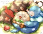 2016 cuddling cute eyes_closed feral group ivan-jhang litten nap napping nintendo pokémon pokémon_(species) popplio rowlet sleeping starter_trio video_gamesRating: SafeScore: 1User: behverzhDate: November 24, 2017