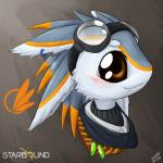 alien avali avian blush cute eyewear feathers fur goggles icon portrait scarf solo starbound video_games xshot01