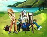 anthro artsyrobo breasts clothed clothing date duo female golf hi_res leo_(velociripper) male nani_(velociripper) nintendo painting pokémon pokémon_(species) primarina smeargle video_gamesRating: SafeScore: 4User: VelociripperDate: January 07, 2018